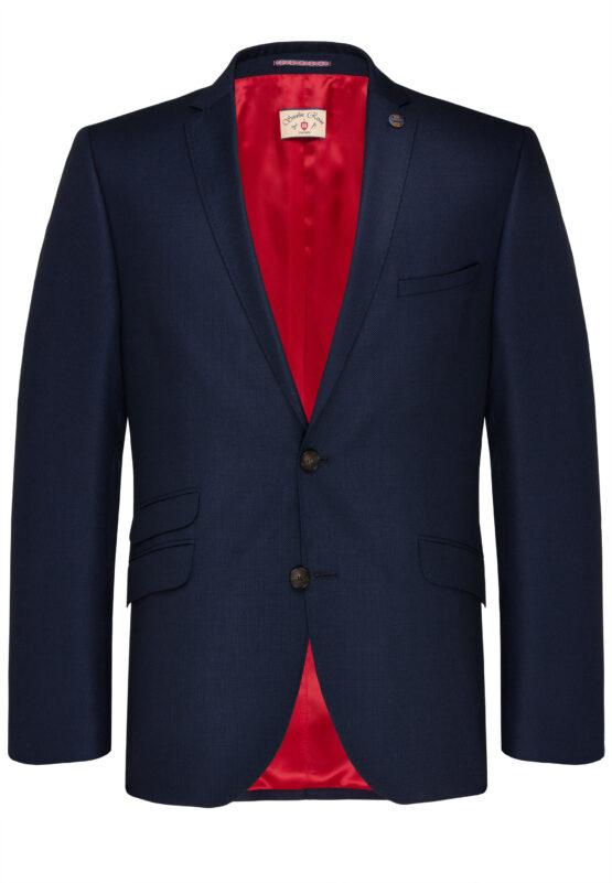 Slim Fit Kostuum Navy Guabello Savile Row jas voor