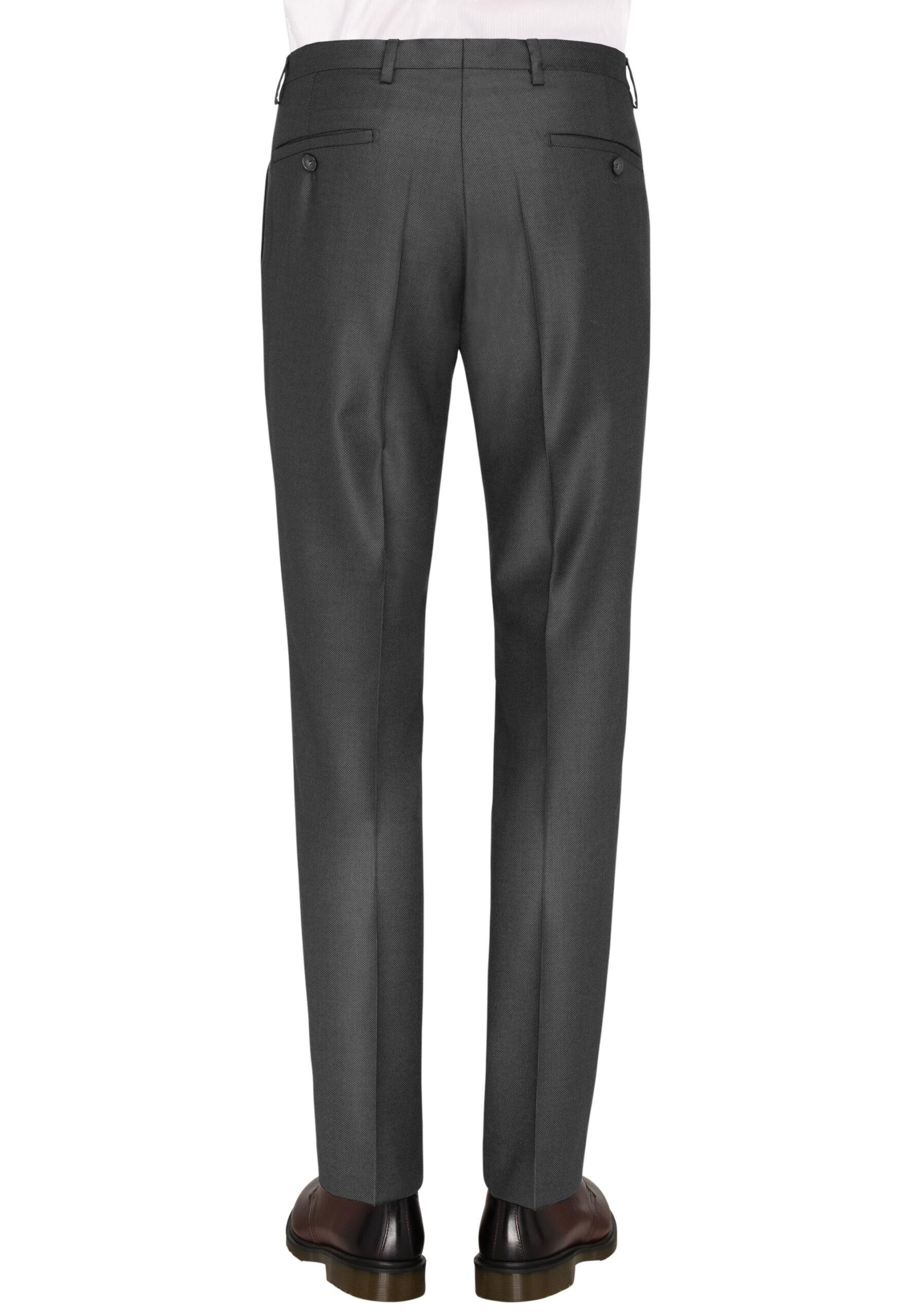 Slim Fit Kostuum Antraciet Guabello Savile Row broek achter