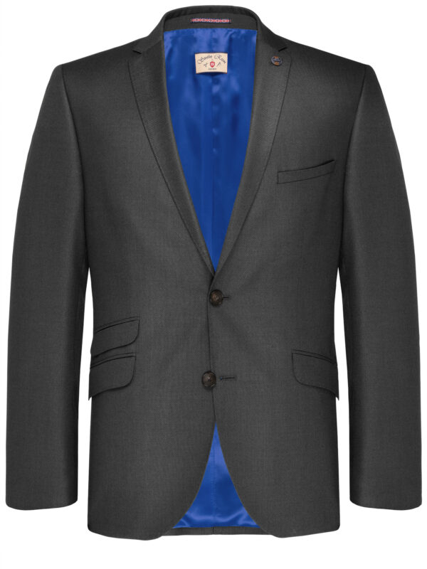 Slim Fit Kostuum Antraciet Guabello Savile Row jas voor