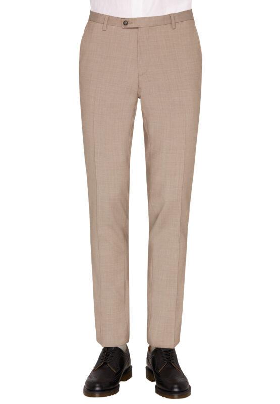 Slim Fit Kostuum Beige Marzotto broek voor