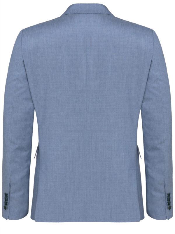 Lichtblauw kostuum jas achter