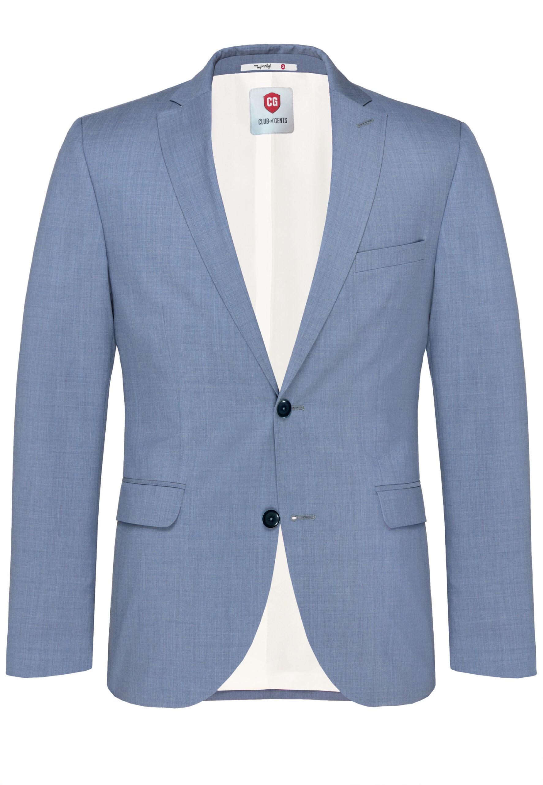 Lichtblauw kostuum jas voor