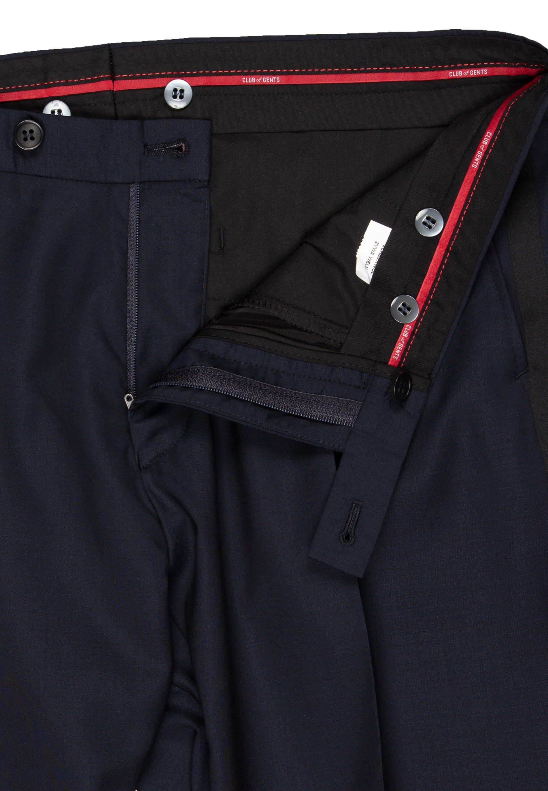 Smoking navy broek detail