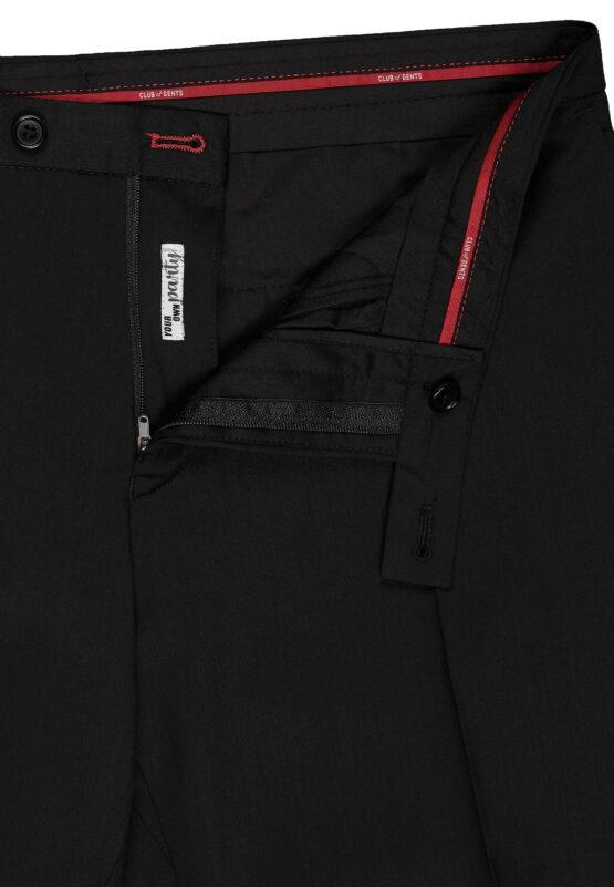 Slim Fit Smoking Zwart broek detail