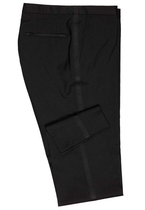 Slim Fit Smoking Zwart broek zijkant