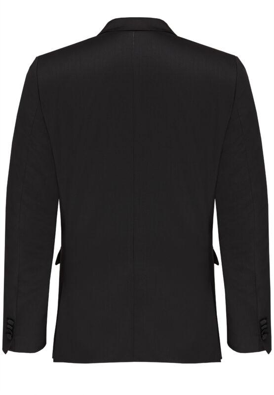 Slim Fit Smoking Zwart jas achter