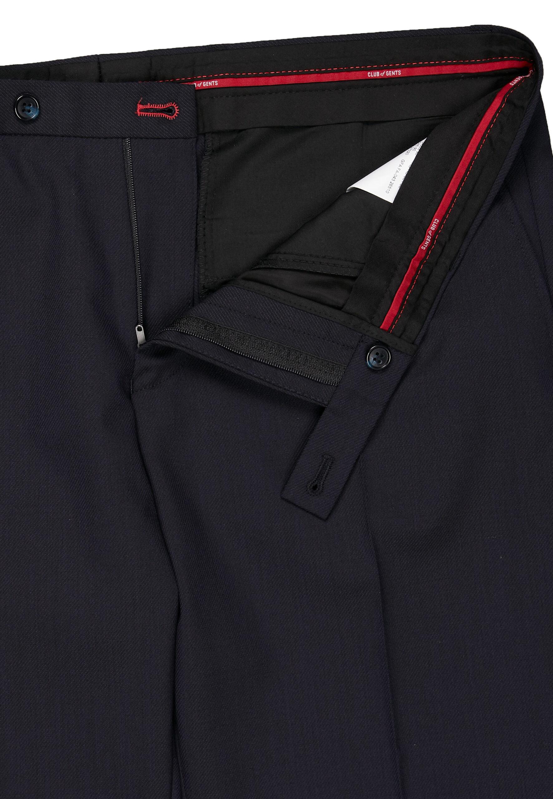 Kostuum Slim Fit Navy Uni broek detail