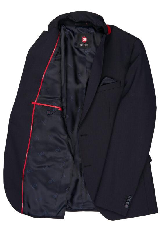 Kostuum Slim Fit Navy Uni jas detail