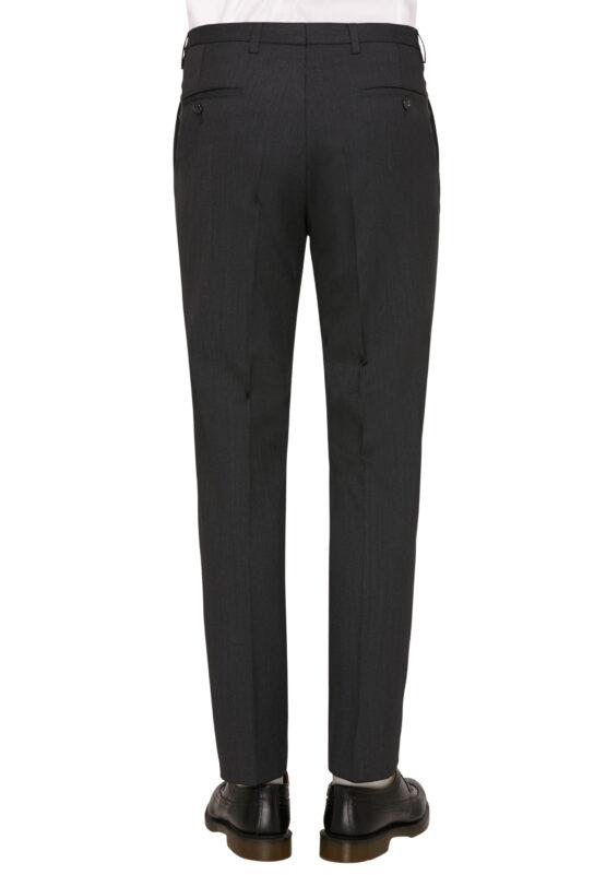 Kostuum Slim Fit Zwart Uni broek achter