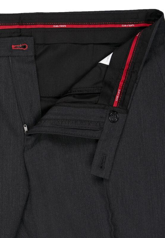 Kostuum Slim Fit Zwart Uni broek detail