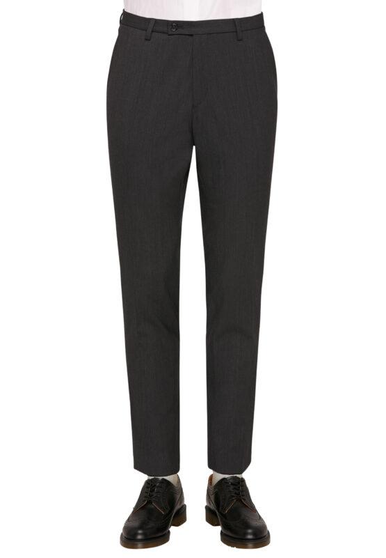 Kostuum Slim Fit Zwart Uni broek voor