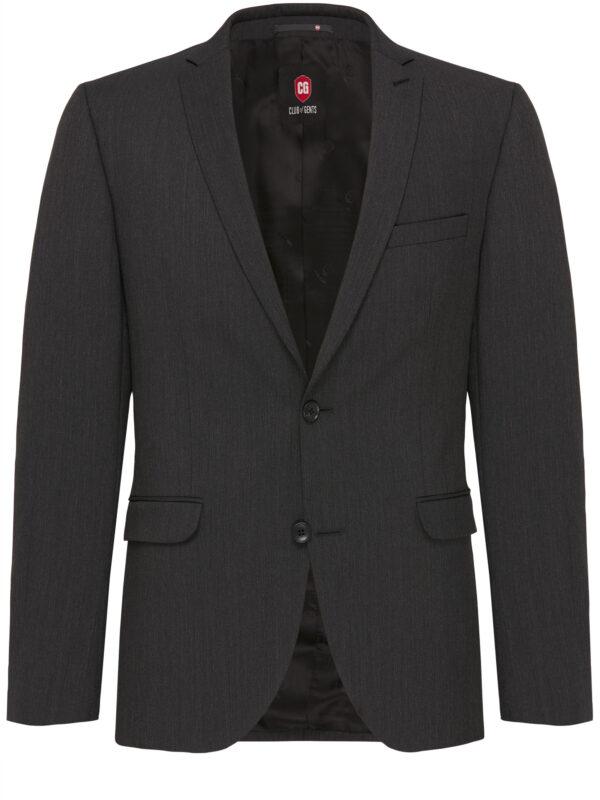 Kostuum Slim Fit Zwart Uni jas voor