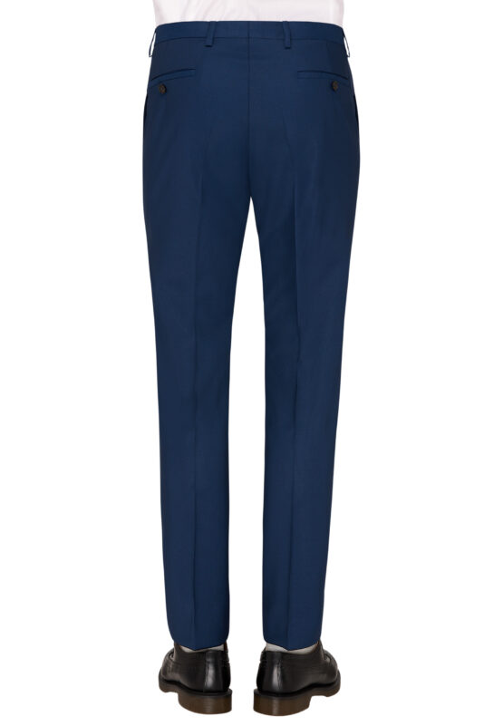 Slim Fit Kostuum Napolitaans blauw broek achter