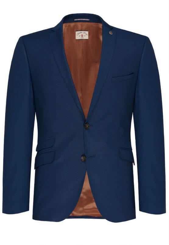Slim Fit Kostuum Napolitaans blauw jas voor