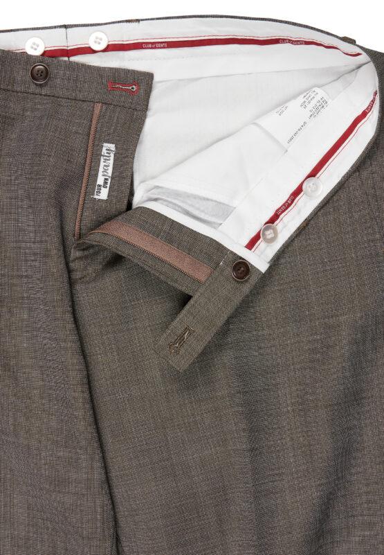 Slim fit kostuum groen broek detail