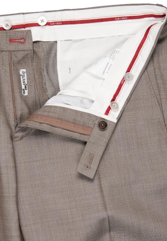 Slim Fit Kostuum Zand broek detail