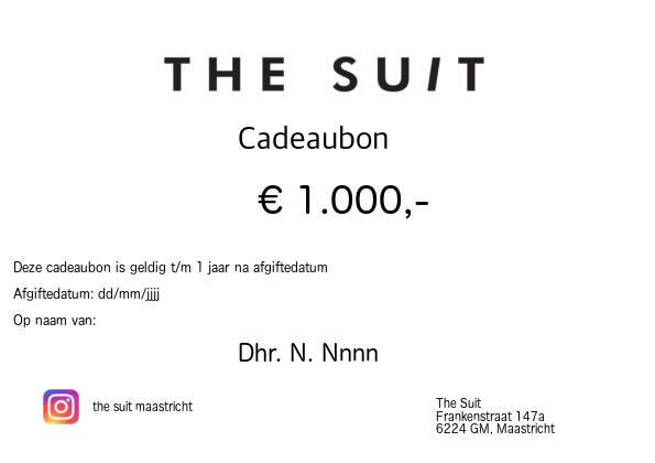 Cadeaubon €1000