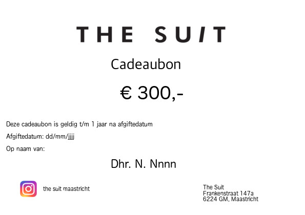 Cadeaubon €300